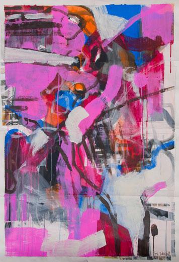 abstrakte Astformen Malerei