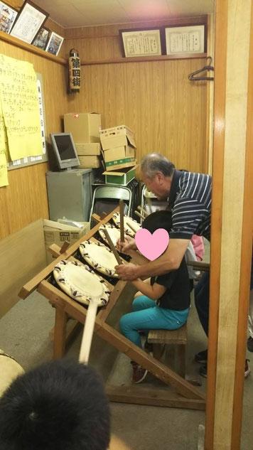 大間々祇園の太鼓を教えてもらいました
