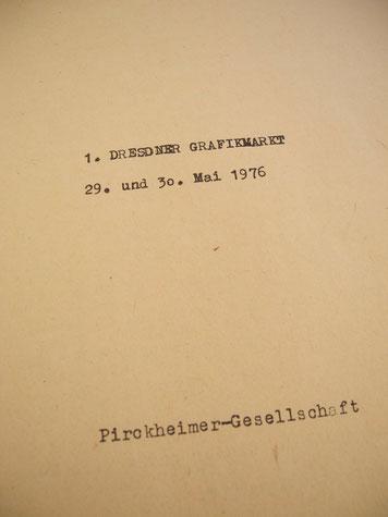 Titel des Faltblatts zum 1. Dresdner Grafikmarkt
