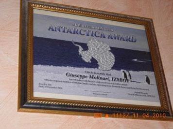 Antartica Award  A.A.