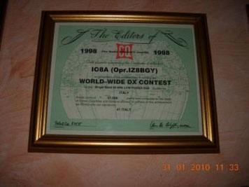 1° Italiano 28 Mhz low power SSB nel 1998