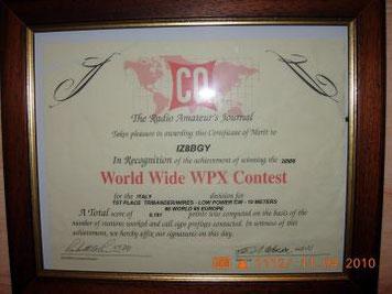 1° Italia  28 mhz CW Tribander/Wires
