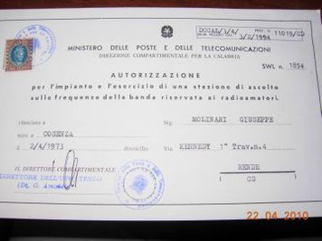 La licenza SWL
