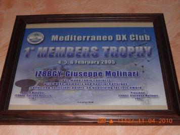 1 Diploma Members Trophy