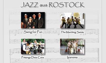 Jazzband Quartett Saxofonspieler Bassist Jazzsängerin Klavierspieler Swing for Fun Jazzmusik in Schwerin aus Rostock