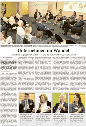 Unternehmen im Wandel - Mittelstands-Union im Gespräch
