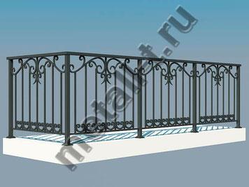 Балконное ограждение металлическое