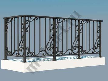 Балконные ограждения из металла с декоративными элементами