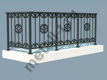 Ограждение балкона металлическое