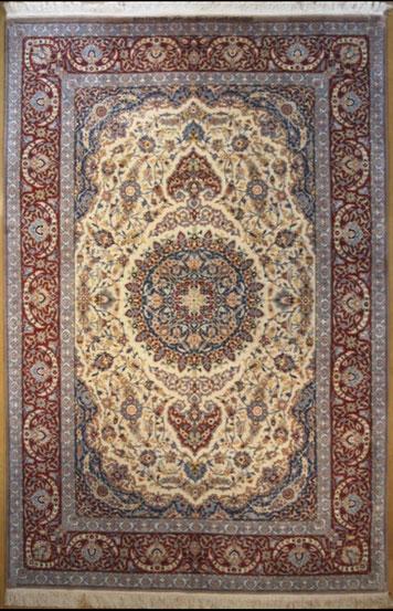 ESFAHAN wool&silk 約 220x150 HAGHIGHI工房
