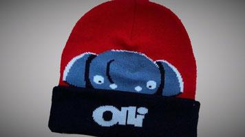Gebreide Olli Muts met eigen logo