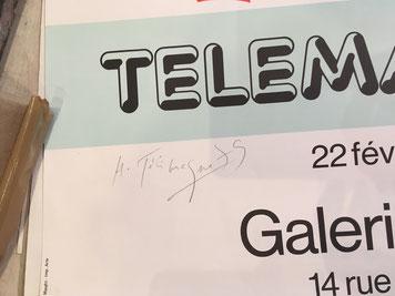 Herve Telemaque , affiche lithographique signée au crayon