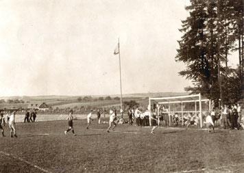 Sportplatz oberhalb des Bahnhofs (frühere Molkerei) Spiel am 31. August 1930 Jugend SVC Kastellaun : Jugend Oberwesel 2:0