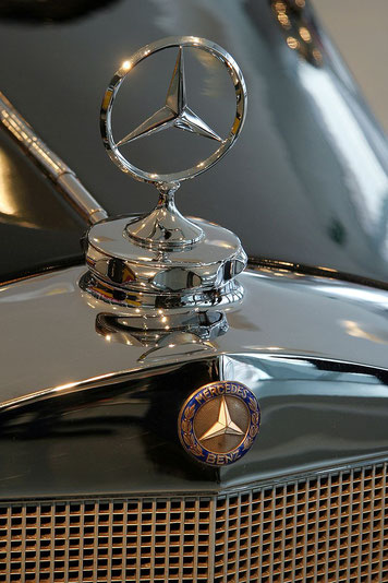 Three-beam star of Mercedes-Benz on the radiator cap