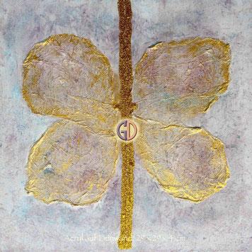 Doris Getreuer, Acryl auf Leinwand, Schmetterling