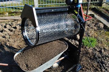 Garten-Mietgeräte, Rollsieb für Gartenerde
