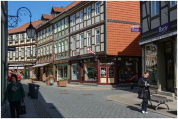 Wernigerode Altstadt Fachwerkhäuser Einkaufsstrasse