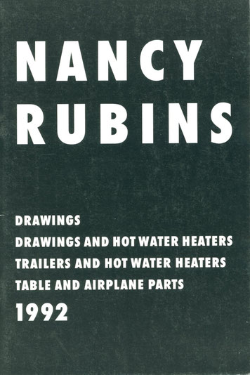 Nancy Rubins Catalogue : Drawings 1992 Katalog