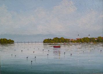 Kleiner See, Lindau (Öl auf Leinwand, 21 x 29 cm, verkauft)
