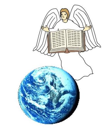 Une voix sort du trône pour exhorter tous les serviteurs de Dieu qui le craignent à lui rendre gloire. Ces paroles nous rappellent l'Evangile éternel annoncé par le premier ange d'Apocalypse 14.