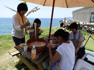 そしてお昼は素麺ランチ~♪ 美味しかった~!