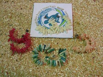 珊瑚のフープ風ピアス 色がキレイです! ¥1,750+Tax
