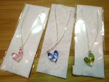 Glass Heart neckless 2.000yen