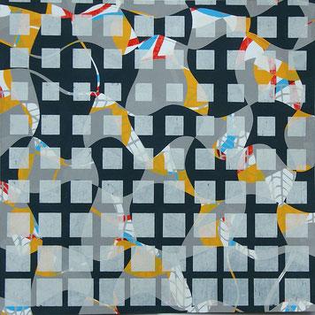 RasterRaum04, Siebdruck/AluDibond, 20 x 20 cm, 2019