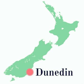 Emplacement de Dunedin en Nouvelle-Zélande