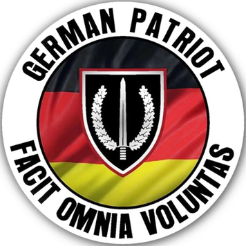 German Patriot Facit Omnia Voluntas Patrioten arbeiten hart patriotische Kämpfer Siegeswillen