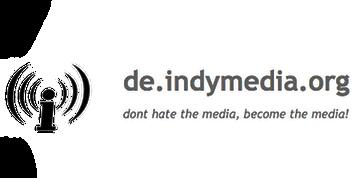 de indymedia org linksunten dont hate media mecome the media Logo