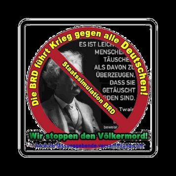 Staatssimulation BRD Krieg gegen Deutsche Genozid Völkermord Verfassunggebende Versammlung