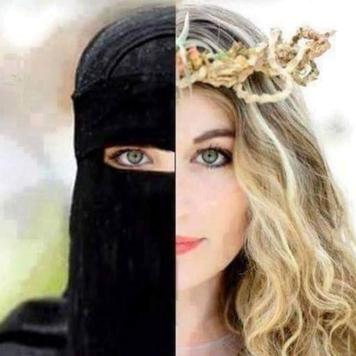 Islamisierung nein danke Moslems Muslime Überfremdung Islamisten Islamismus Verschleierung Burka Kopftuch Burkini Nijab Nihab