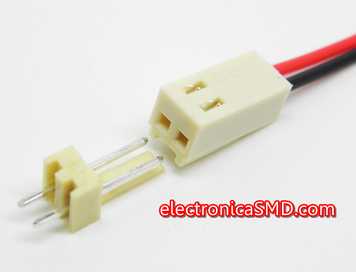 Cables conectores Polarizados 2pines 3pines Electronica Electronico Guatemala ElectronicaSMD