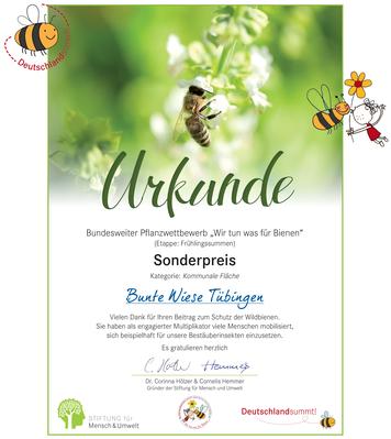 """Sonderpreis """"Wir tun was für Bienen"""""""
