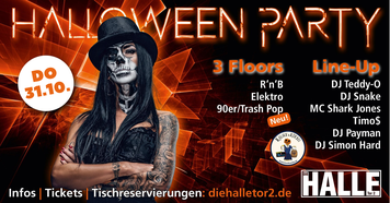 Halloween Party Logo 2019 Halle Tor 2