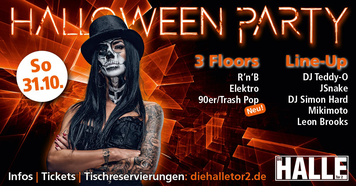 Halloween, Halloweenparty, Party, Event, die Halle Tor 2, Halle Tor 2, Dj, Music