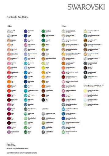 Swarovski Värikartta colorcard