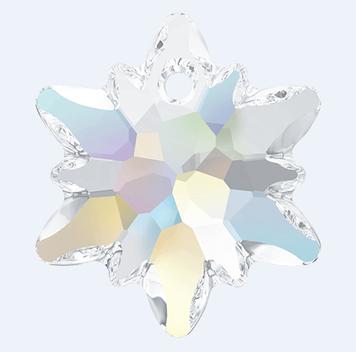 Swarovski 6748 Edelweiss crystal AB