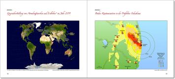 Karten und Grafiken vermitteln alle Fakten auf einen Blick.