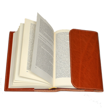 Buch in Lederbuchhülle