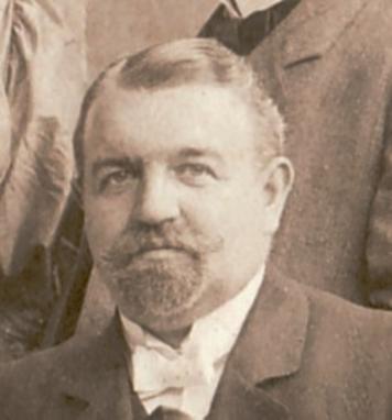 Der Pfarrer Otto Bowien (Polnisch Otto Bowiena) um 1900