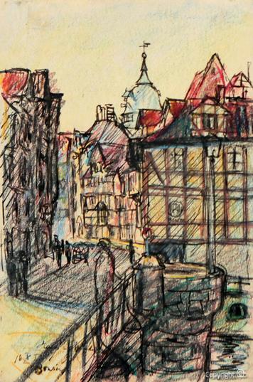 Erwin Bowien ( 1899-1972): Ansicht von Hannoversch Münden, 1959