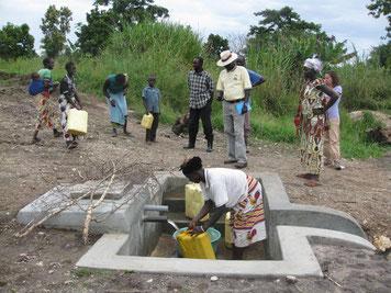 Una delle sorgenti della Chefferie des Kakwa su cui è stato effettuato l'intervento di protezione