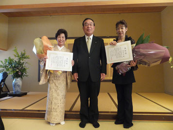 35年継続表彰 金村先生と永尾先生