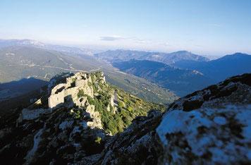 chateau de Peyrepertuse dans l'Aude