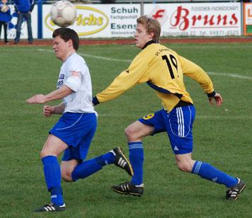 Früher Gegner, künftig in einer Mannschaft: Germanias Jan-Hendrik Westermann (rechts) und Neuzugang Klaus Barghorn.