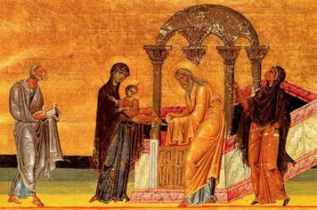 Présentation au Temple, Ménologe de Basile II