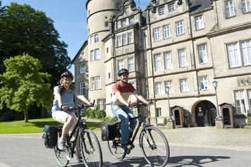 Am Residenzschloss in Detmold © Stadt Detmold