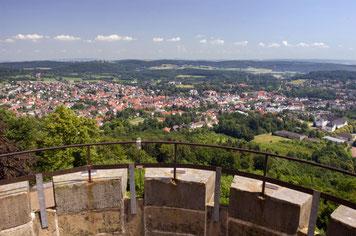 Blick auf Bad Driburg vom Kaiser-Karls-Turm © Bad Driburger Touristik GmbH